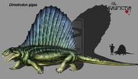 Dimetrodon gigas by Theropsida