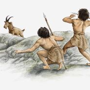 Illustration-of-hunters-in-indonesia-using-spears-to-kill-their-prey--circa-15000-bc-141527100-5c3fc74046e0fb00011baa9c