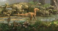 Deinonychus attaque carr