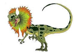 Jurassic park dilophosaurus venenifer by sommomaestrodracorex-d8siqky