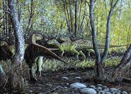 Rhabdodon at forest