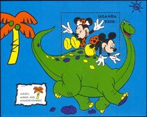 Disney mamenchisaurus stamp