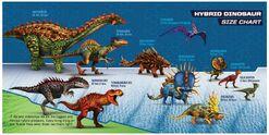 Hybrid dino size chart