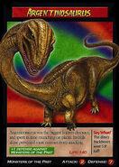 Argentinosaurus Trading Card