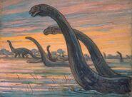 Brontosauri di Charles Knight