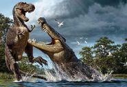 Deinosuchus vs Albertosaurus