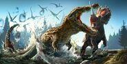 Extreme deinosuchus pwnelage by greeni studio-d46q454