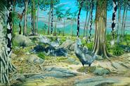 Illustration of native animals in Mauritius