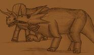 Caprona triceratops and styracosaurus by adiraiju dbp04sf