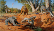 Australian Megafauna in their ecosystem