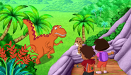 Dora and Diego T-Rex