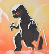 Fantasia Tyrannosaurus rex production cels from The Plausible Impossible