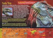 Tarbosaurus back