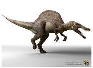 Spinosaurus running