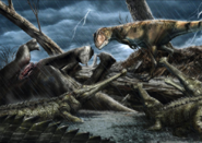 Carcharodontosaurus and Elosuchus