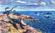 Plesiosaurus brachypterygius by zdenek burian 1962