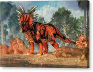 Styracosaurus-daniel-eskridge-canvas-print
