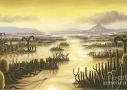 Devonian-period-landscape-artwork-spencer-sutton