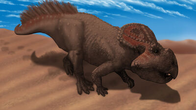 Protoceratops portrait by microcosmicecology-d4oa8le