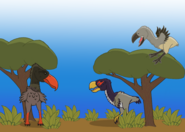 3 terror birds by thedinodrawer66 dcu7twm