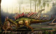 Kentrosaurus by pauloomarcio-d4nnorv