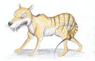 Thylacine gerald scarfe style by louisetheanimator dcs3xcr