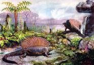 Edaphosaurus by zdenek burian 1942