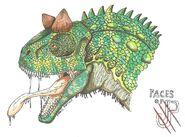 Faces of jp carnotaurus sastrei chamaeleo by hellraptor-d5xlrzf