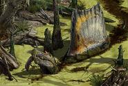 Spinosaurus-Swamp-Davide-Bonadonna