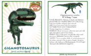 Dinosaur train giganotosaurus card revised by vespisaurus-db7wgtj