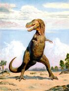 Tarbosaurus by zdenek burian 1970
