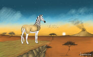 Quagga in sunset by louisetheanimator d9gvu4f