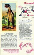 Tyrannosaurus Brooke Bond Picture Cards