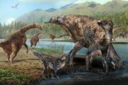 Alaskan Therizinosaur and Hadrosaurs