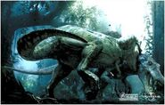 Tyrannosaurus rex bites Spinosaurus.jpg