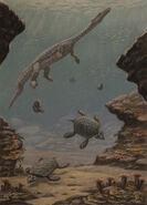 Nothosaurus placochelys by abelov2014-db3duy5