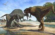 Spinosaurus and Carcharodontosaurus