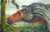 Art head design of Erlikosaurus andrewsi