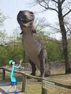 Patty e il tarbosauro