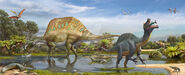 Spinosaurus and sigilmassasaurus by atrox1-d9n2a9a