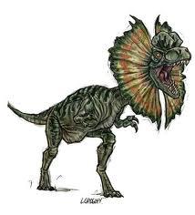 Dilophosaurus jpog art