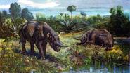 Arsinoitherium by zdenek burian 1961