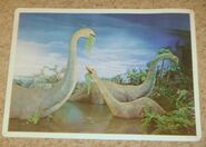 Primeval World Brontosaurus card front