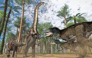 Brontosaurus, Allosaurus by Paleoguy-d9fpf85