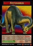 Apatosaurus Trading Card