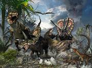 Tyrannosaurus-and-torosaurus-kurt-miller