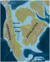 North America Late Cretaceous ( 75mya) Western Interoir Seaway map PLoS ONE