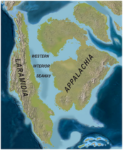 North America Late Cretaceous ( 75mya) Western Interoir Seaway map PLoS ONE
