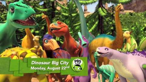 Dinosaur Train Dinosaur Big City -- coming August. 22 PBS KIDS