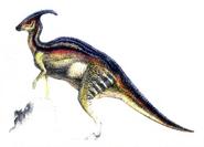 Parasaurolophus elvis konseptitaidetta kadonnut maailma